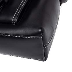 Givenchy Black Leather Front Pocket Shoulder Bag