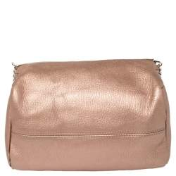 Givenchy Pink Leather Mini Pandora Chain Shoulder Bag