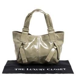 Givenchy Beige Patent Leather Shoulder Bag