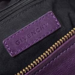 Givenchy Purple Leather Pandora Shoulder Bag