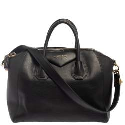 Givenchy Black Leather Medium Antigona Satchel
