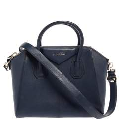 Givenchy Blue Leather Small Antigona Satchel