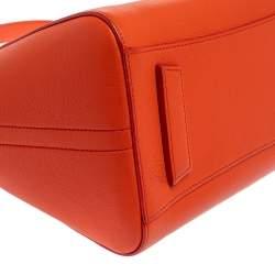 Givenchy Orange Leather Small Antigona Satchel