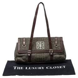 Givenchy Grey Wool And Leather Flap Satchel