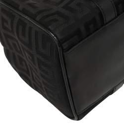 Givenchy Black Monogram Canvas and Leather Boston Satchel