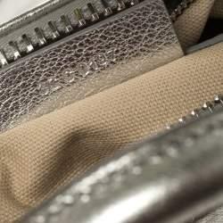 Givenchy Silver Leather Mini Antigona Satchel