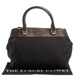 Givenchy Black/Brown Monogram Canvas and Leather Tote