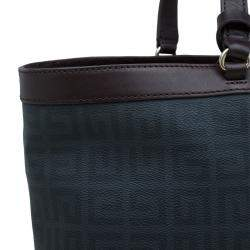 Givenchy Brown/Black Coated Canvas and Leather Shopper Tote