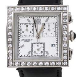 Givenchy White Stainless Steel Leather Apsaras REG.1.558.962 Women's Wristwatch 31 mm