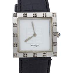 Givenchy White Stainless Steel Apsaras Women's Wristwatch 27MM