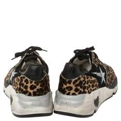 Golden Goose Brown/Black Pony Hair And Fabric Chunky Low Top Sneakers Size 41