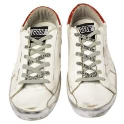 Golden Goose White Leather Superstar Low Top Sneakers Size 40