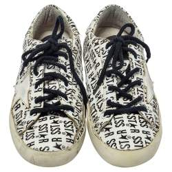 Golden Goose White Printed Leather Superstar Sneakers Size 38