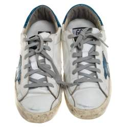 Golden Goose White Leather Superstar Sneakers Size 38
