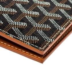 Goyard Dark Brown Goyardine Coated Canvas Grenelle Passport Holder