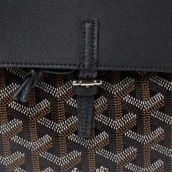 Goyard Black Goyardine Coated Canvas and Leather Mini Alpin Backpack