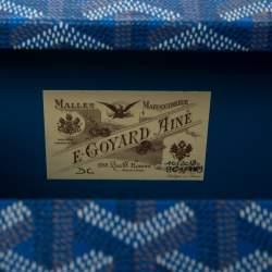 Goyard Goyardine Blue Coated Canvas Saint Honoré Clutch