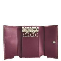 Goyard Bordeaux Goyardine Leather Key Case