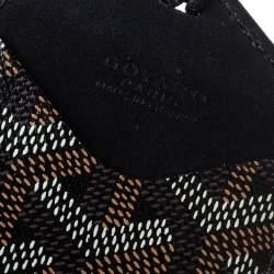 Goyard Black Goyardine Coated Canvas and Leather Luggage Tag