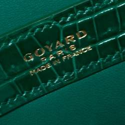 Goyard Green Crocodile Saigon PM Top Handle Bag