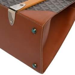 حقيبة جويارد يد علوية سيغون جلد وكانفاس مقوى كونياك/ بنية