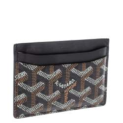 Goyard Black Goyardine Coated Canvas and Leather Saint Sulpice Card Holder