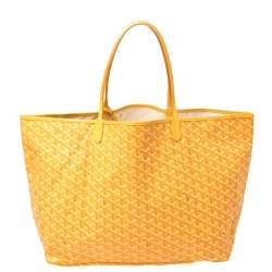 Goyard Mustard Goyardine Coated Canvas St. Louis GM Tote