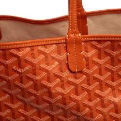 Goyard Orange Goyardine Coated Canvas St. Louis PM Tote