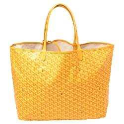 Goyard Yellow Goyardine Coated Canvas St. Louis GM Tote