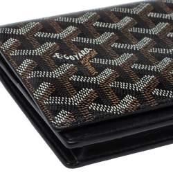 Goyard Black Goyardine Coated Canvas and Leather Richelieu Wallet