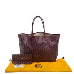 Goyard Burgundy Goyardine Coated Canvas St. Louis PM Tote