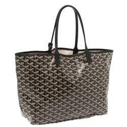 Goyard Black Goyardine Coated Canvas Saint Louis PM Tote