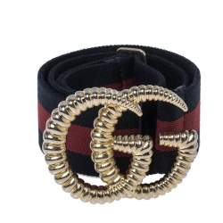 حزام غوتشي إبزيم GG كانفاس ويب مطاطي متعدد الألوان 95 سم
