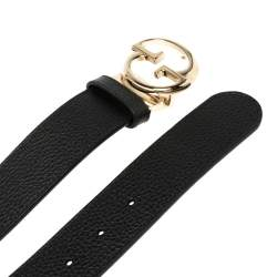 Gucci  Black/Red Leather Reversible Leather Belt 85CM
