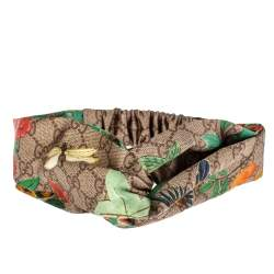 Gucci Brown Tian Print Silk Headband