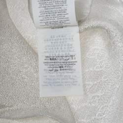 Gucci Cream GG Jacquard Silk Blend Lamé Scarf