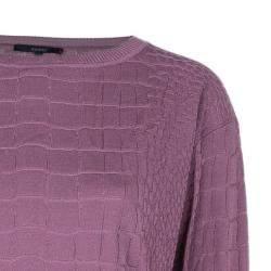 Gucci Mauve Textured Knit Top M