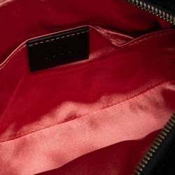 Gucci Black Matelasse Velvet and Leather GG Marmont Belt Bag
