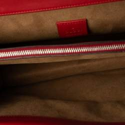 Gucci Red GG Supreme Canvas and Leather Medium Dionysus Arabesque Shoulder Bag