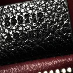 Gucci Black Grain Leather Small Zumi Tote