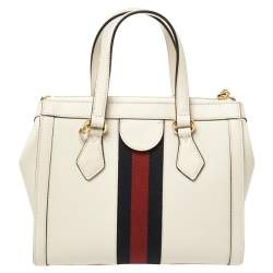 Gucci Off White Leather Small Ophidia Satchel