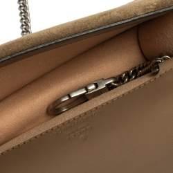 Gucci Beige GG Supreme Canvas and Suede Super Mini Dionysus Shoulder Bag