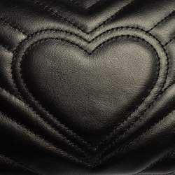 Gucci Black Matelasse Leather GG Marmont Shoulder Bag
