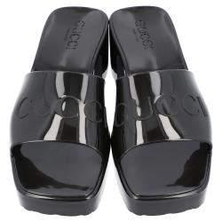 Gucci Black Rubber Slide Sandal Size 35