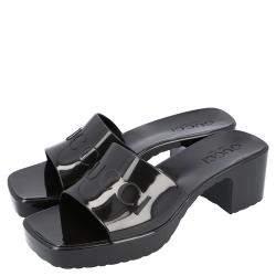 Gucci Black Rubber Slide Sandal Size 38