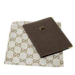 Gucci Khaki Pig Skin Leather Card Holder