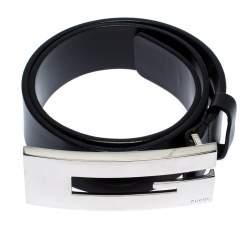 Gucci Black Leather G Belt Size 65cm