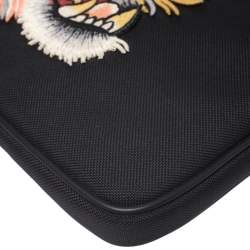 Gucci Black Canvas Tiger Embroidered Tablet Case