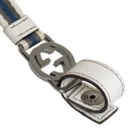 Gucci Blue/White Canvas GG Web Lanyard Key Chain