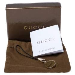 Gucci Logo Gold Tone Cell Phone Charm